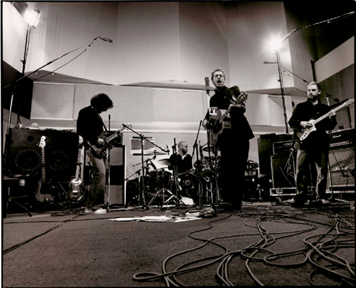 Coldplay while recording X&Y, 2004