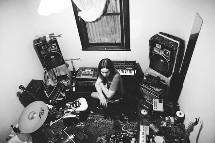 Kevin Parker recording Lonerism in his home Studio, 2010