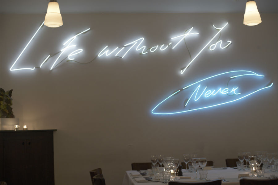 Tracey Emin at Rivington Grill Shoreditch