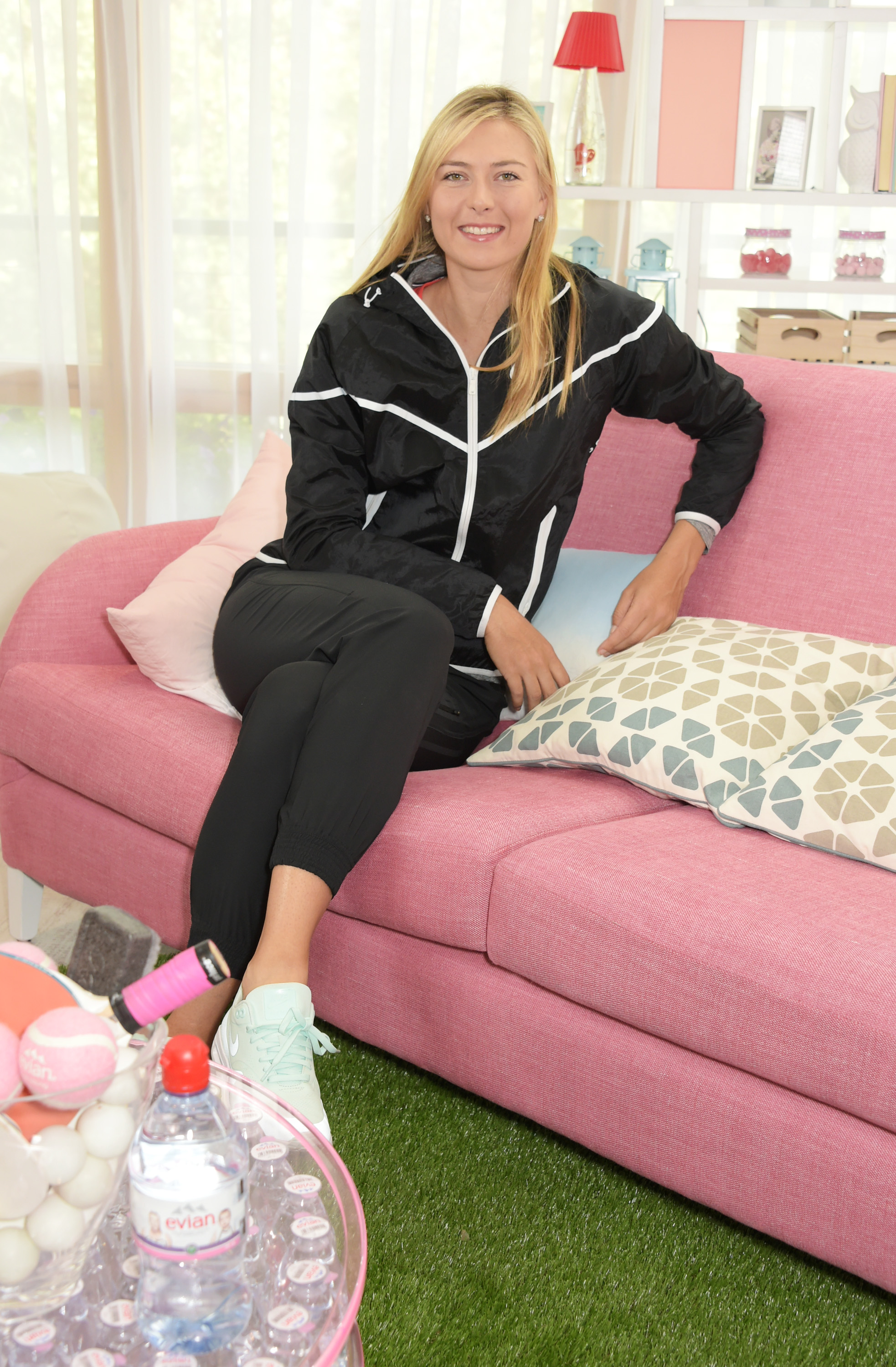 evian launches #wimblewatch with Maria Sharapova at Wimbledon on June 23, 2015 in London, England. Pic Credit: Dave Benett