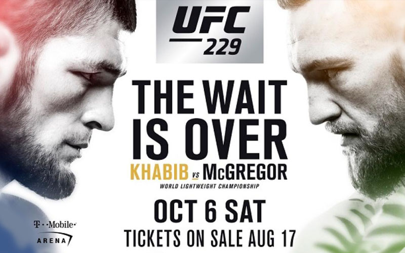 Fight poster of Khabib vs Mcgregor