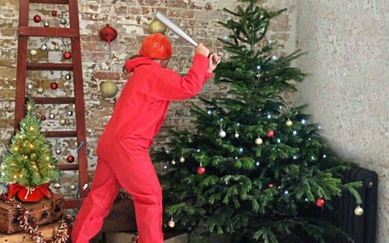 Christmas rage room london