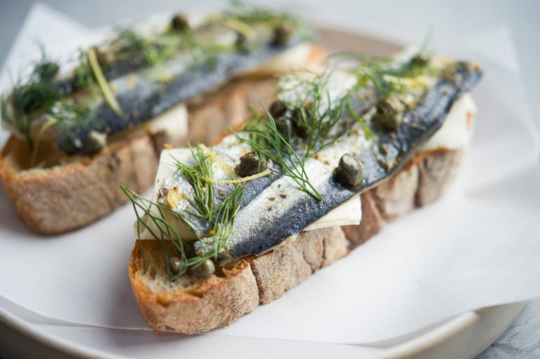 Cured Sardines, Capers, Dill, Fettunta