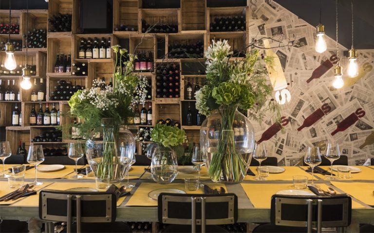 BOTTLES wine bar in Spitalfields