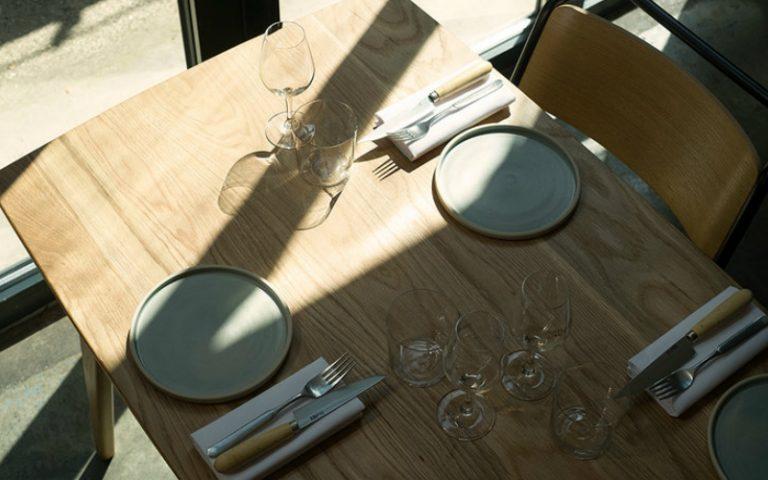table at bright