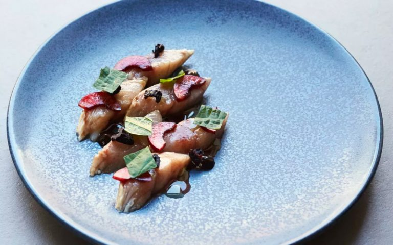 mackerel with cherries at two lights