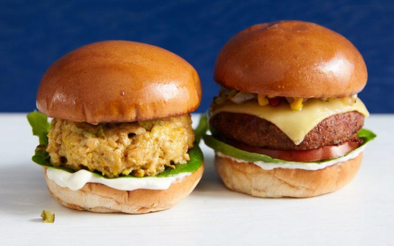Vegan burgers at Flipside