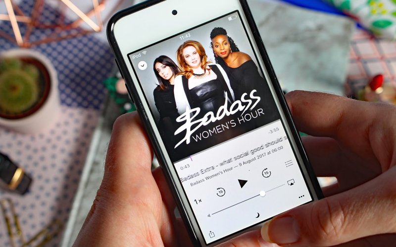 Badass Women's Houe Podcast on iPhone