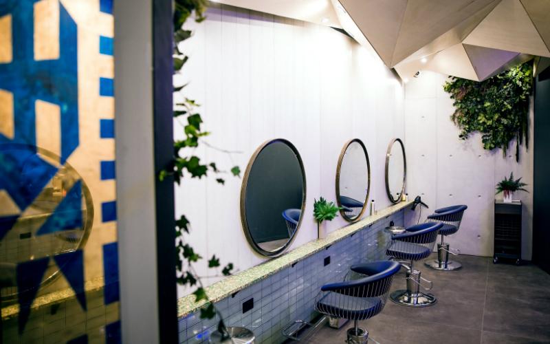 Blue Tit Topshop Interior
