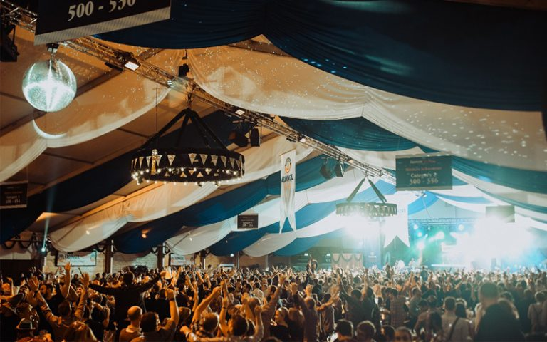 A shot of the crowd at Erdinger Oktoberfest London