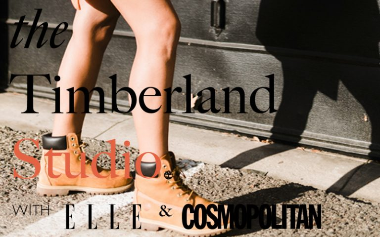 Photo of model in Timberland boots for the Timberland Studio activity