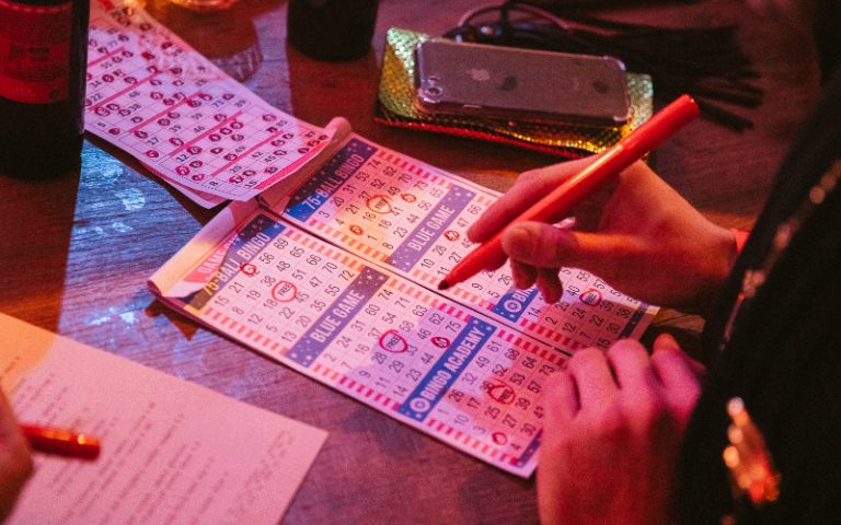 playing bingo
