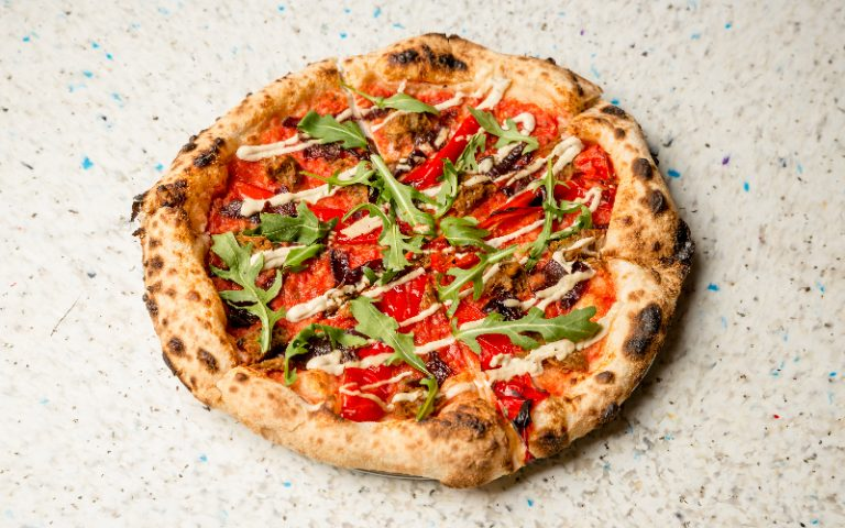 Yard Sale x Vurger Co pizza